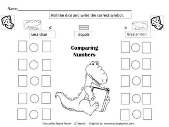 Greater Than Less Than Comparing Numbers Printable Or Digital Remote Learning Math Classroom Math Lessons Math Center Activities