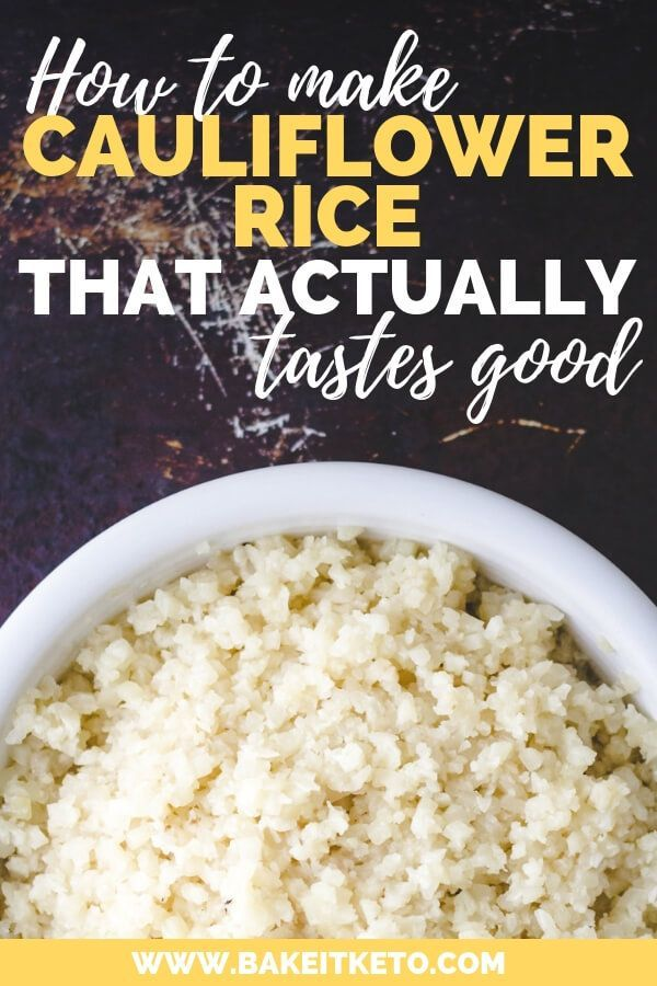 Easy Cauliflower Rice That Tastes Good #healthyrecipes