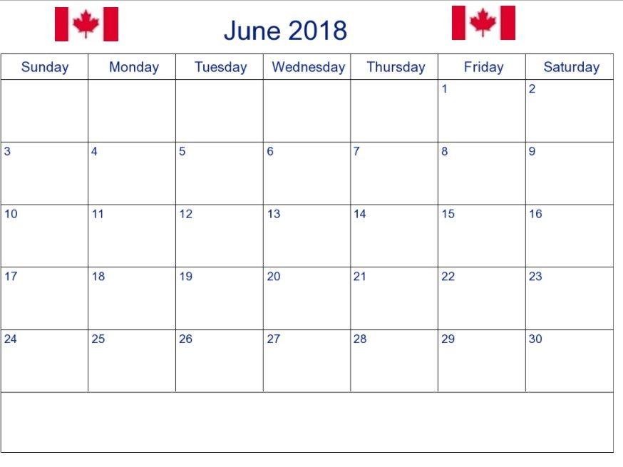 June 2018 Printable Calendar 2018 Printable Calendar Calendar