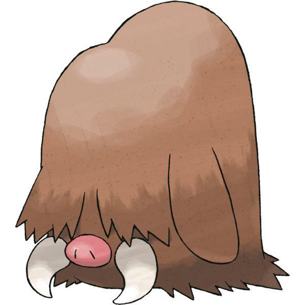 pokemon 221 piloswine liked on polyvore featuring pokemon