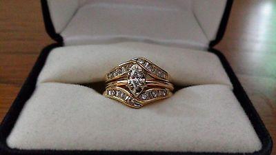 jewelry: 14k Gold/White Gold/Diamond Engagement AND Wedding Ring Set #Jewelry - 14k Gold/White Gold/Diamond Engagement AND Wedding Ring Set...