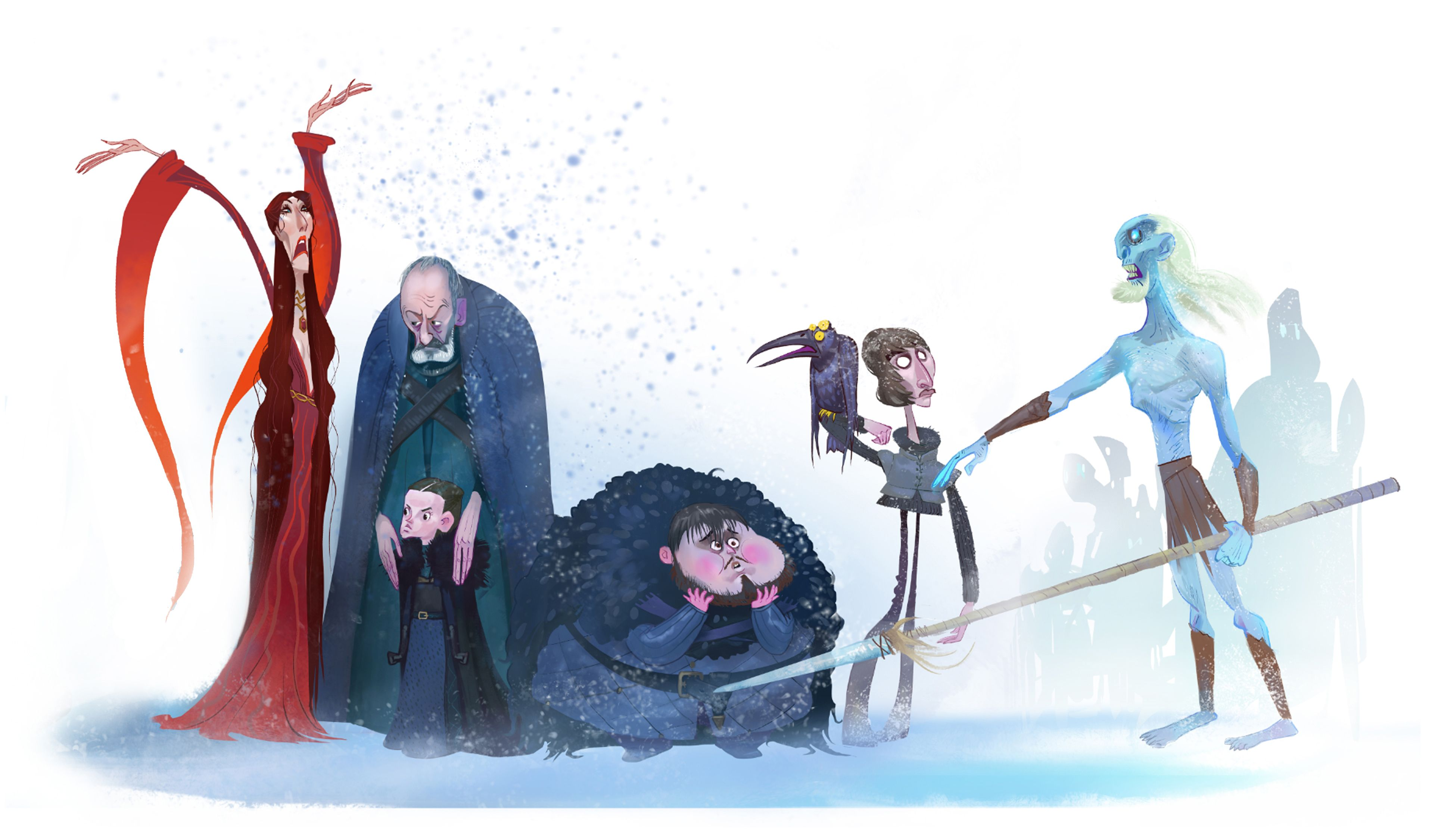 Animation Character Design Portfolio : Game of thrones behance portfolio editor
