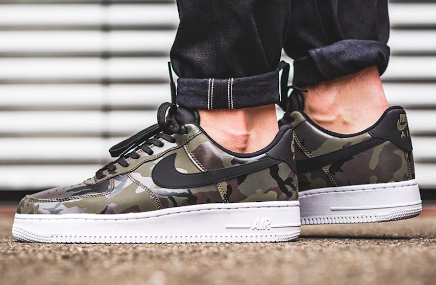 more photos 705fd 99080 Get The Nike Air Force 1 Low Reflective Camo (Medium Olive) Now