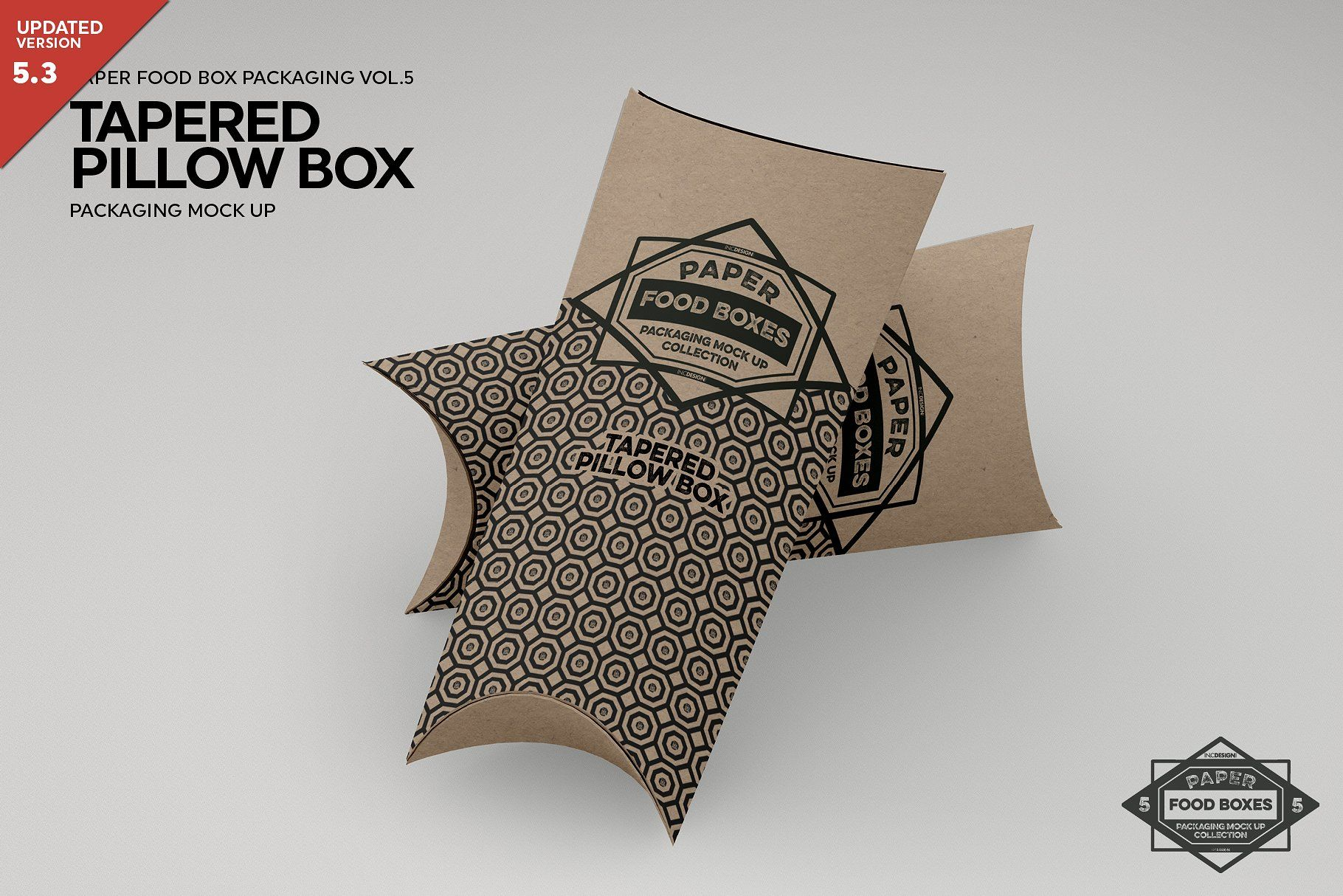 Tapered Pillow Box Packaging Mockup Food Box Packaging Packaging Mockup Box Packaging