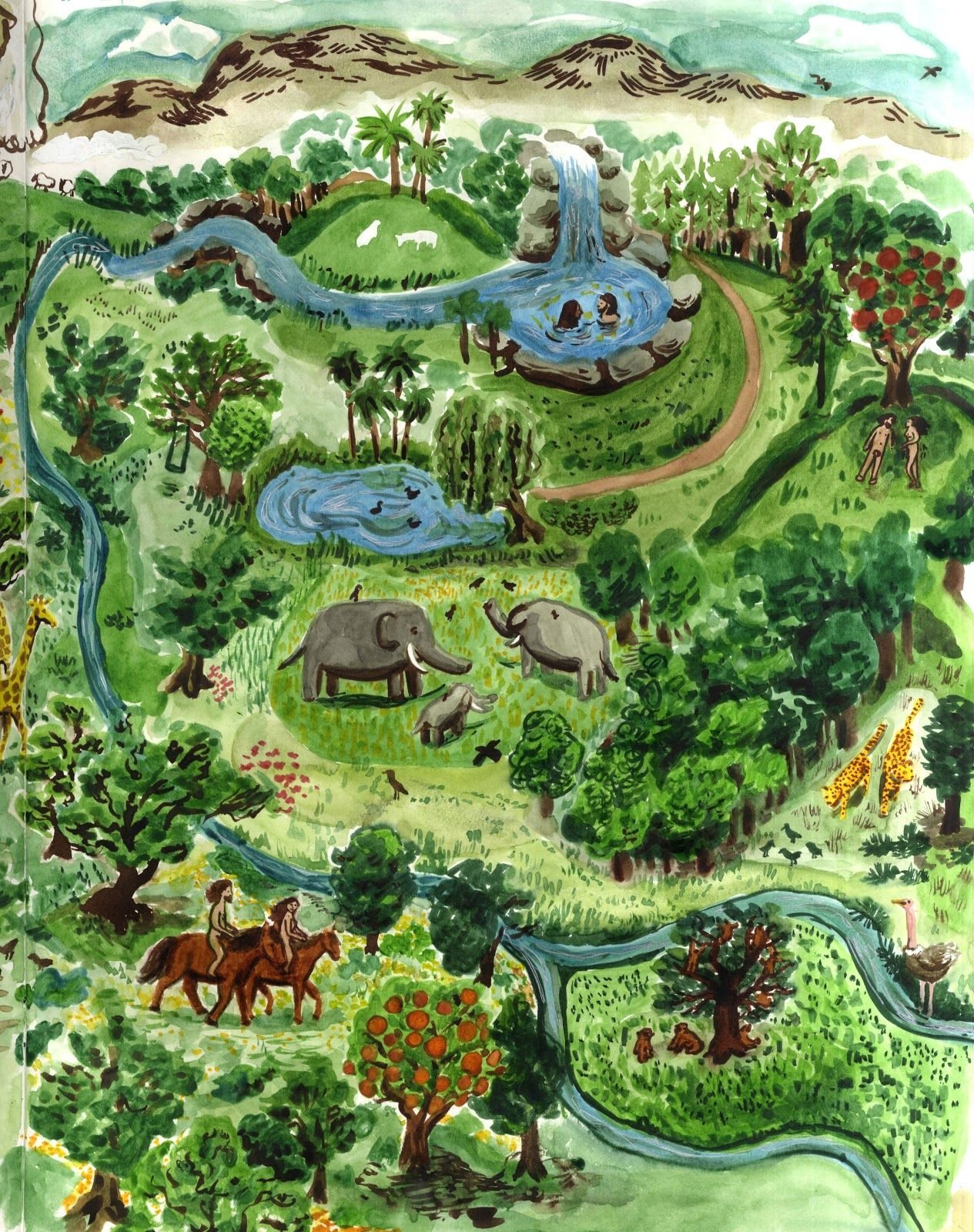 Garden Of Eden Garden of Eden Map Garden of Eden Pinterest