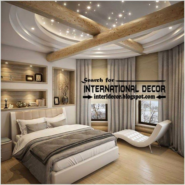 Modern pop false ceiling designs for bedroom 2015 pop for New style bedroom bed design