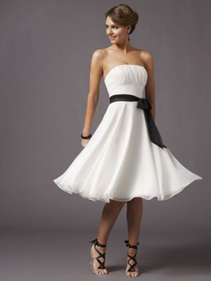 Fun Simple Bridesmaid Dress Tea Length Bridesmaid Dresses Chiffon Cocktail Dress Cheap Bridesmaid Dresses