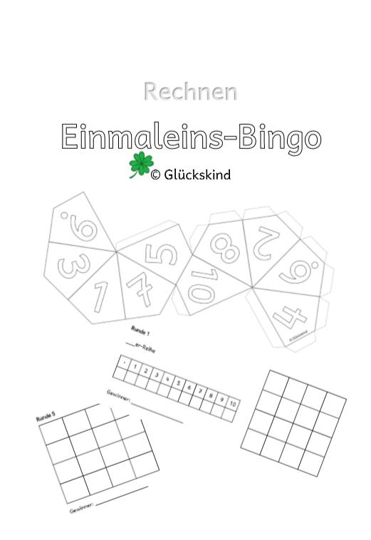 Einmaleins Bingo Inkl 10er Wurfel Unterrichtsmaterial Im Fach Mathematik In 2020 Einmaleins Bingo Kleines Einmaleins