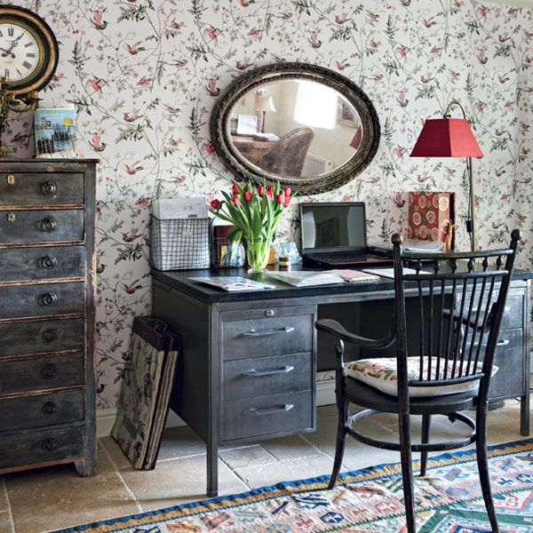 Create a Quirky Cottage-Style Home Office | Home Office ...