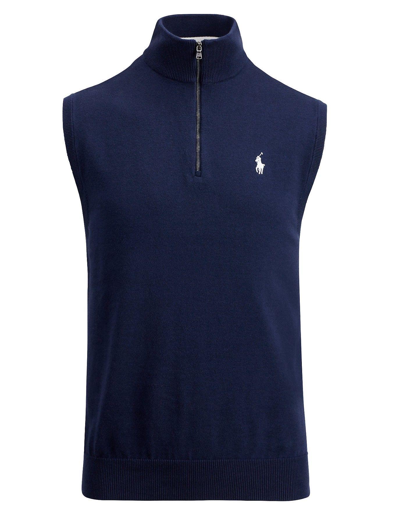 RALPH LAUREN Cotton Half-Zip Sweater Vest. #ralphlauren #cloth ...