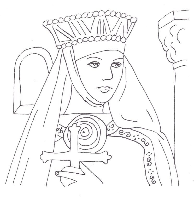 st margaret of scotland coloring page google search