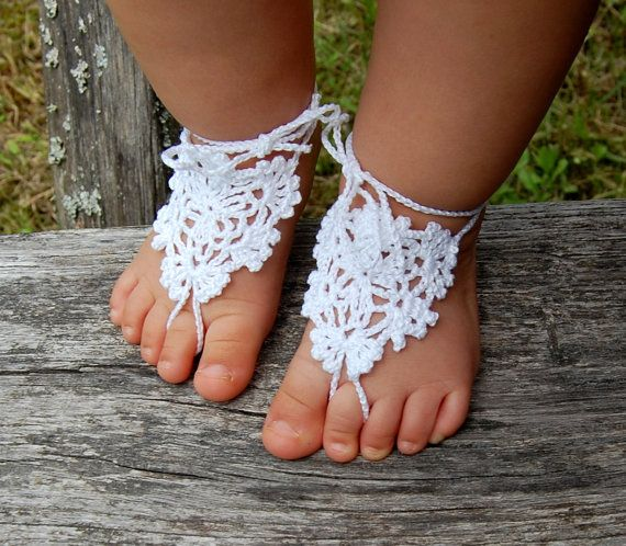 Crochet Baby Barefoot Sandals, Anklet, Baby Foot Jewelry, Childrens ...