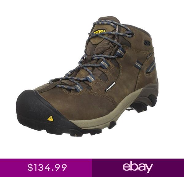 Keen Mens Detroit Mid Waterproof Steel Toe EH Hiking Boot