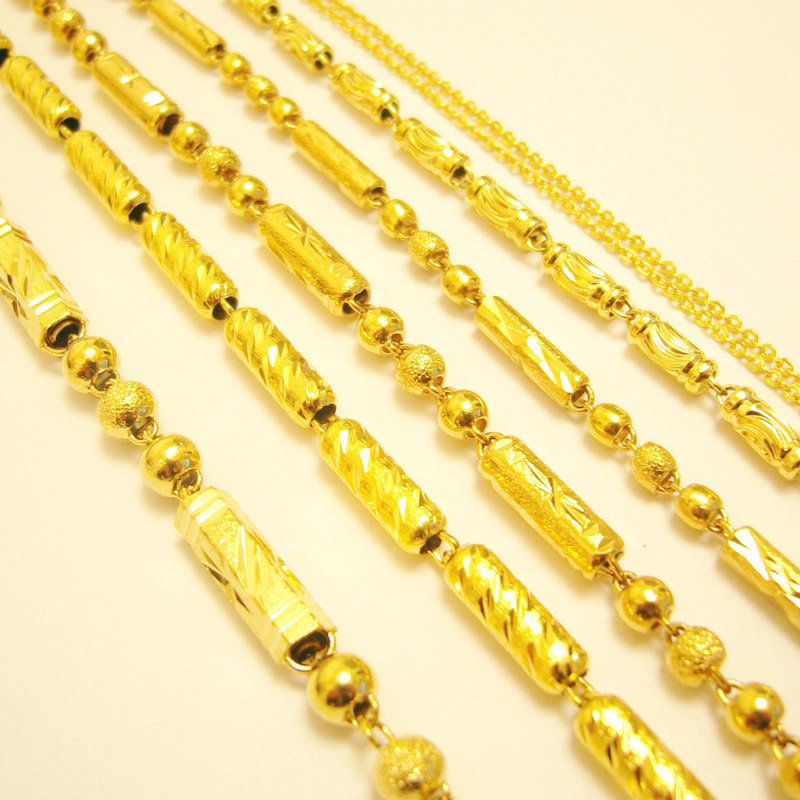 gold plated from necklace necklaces chains men chain in item pure color figaro jewelry for heavry