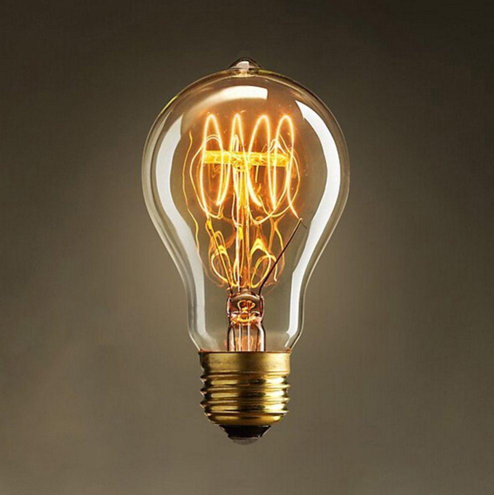 Vintage Light Retro Bulb Old Fashioned Edison E27