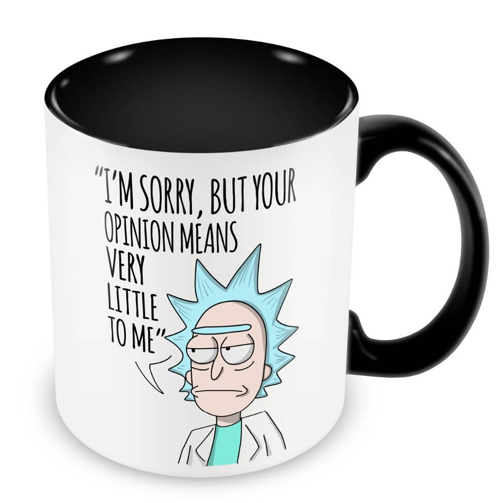 d5a705d5ba6 Rick and Morty Mugs inner black travel cup beer cup ceramic coffee ...