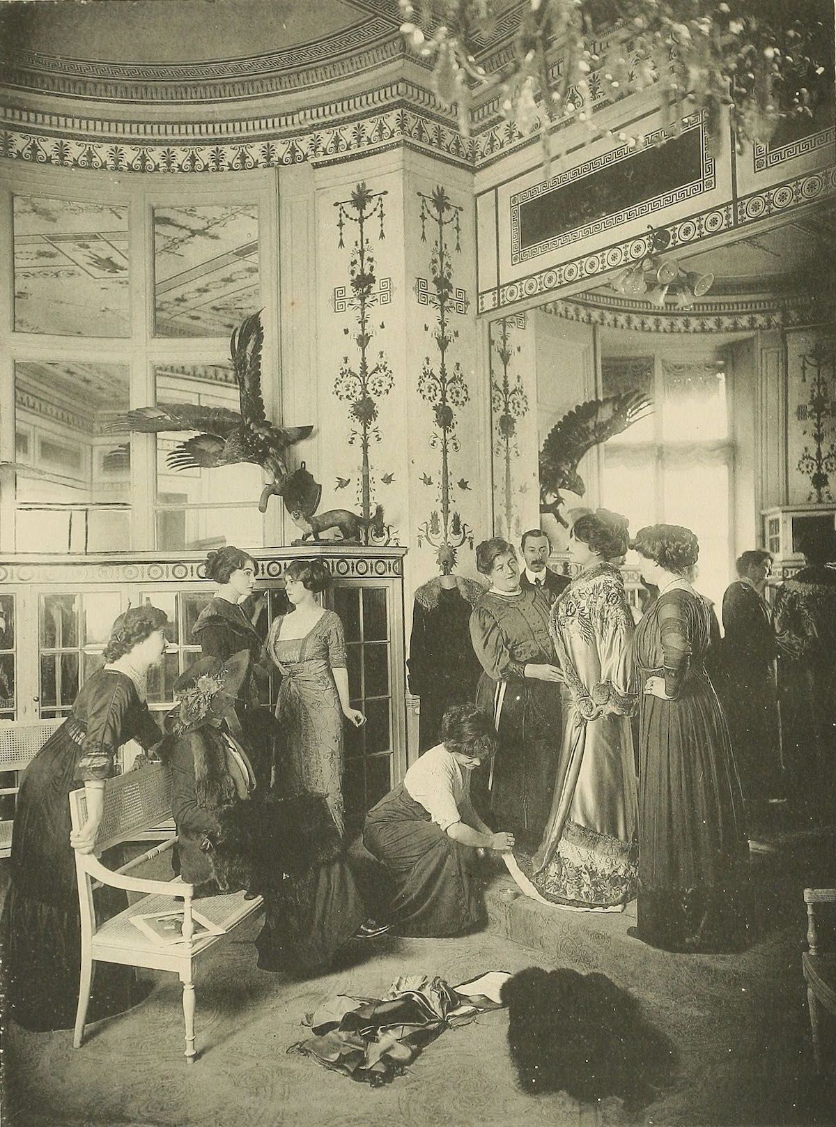 Working in the paris fashion industry years ago