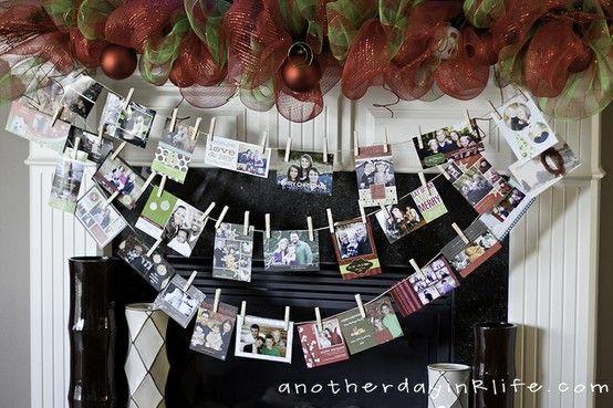Christmas Card Display Ideas Christmas Pinterest Card displays