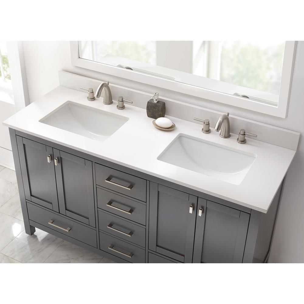 Pin By Marsha Wilson On For The Home In 2020 Double Sink Vanity Top Double Sink Vanity Double Trough Sink