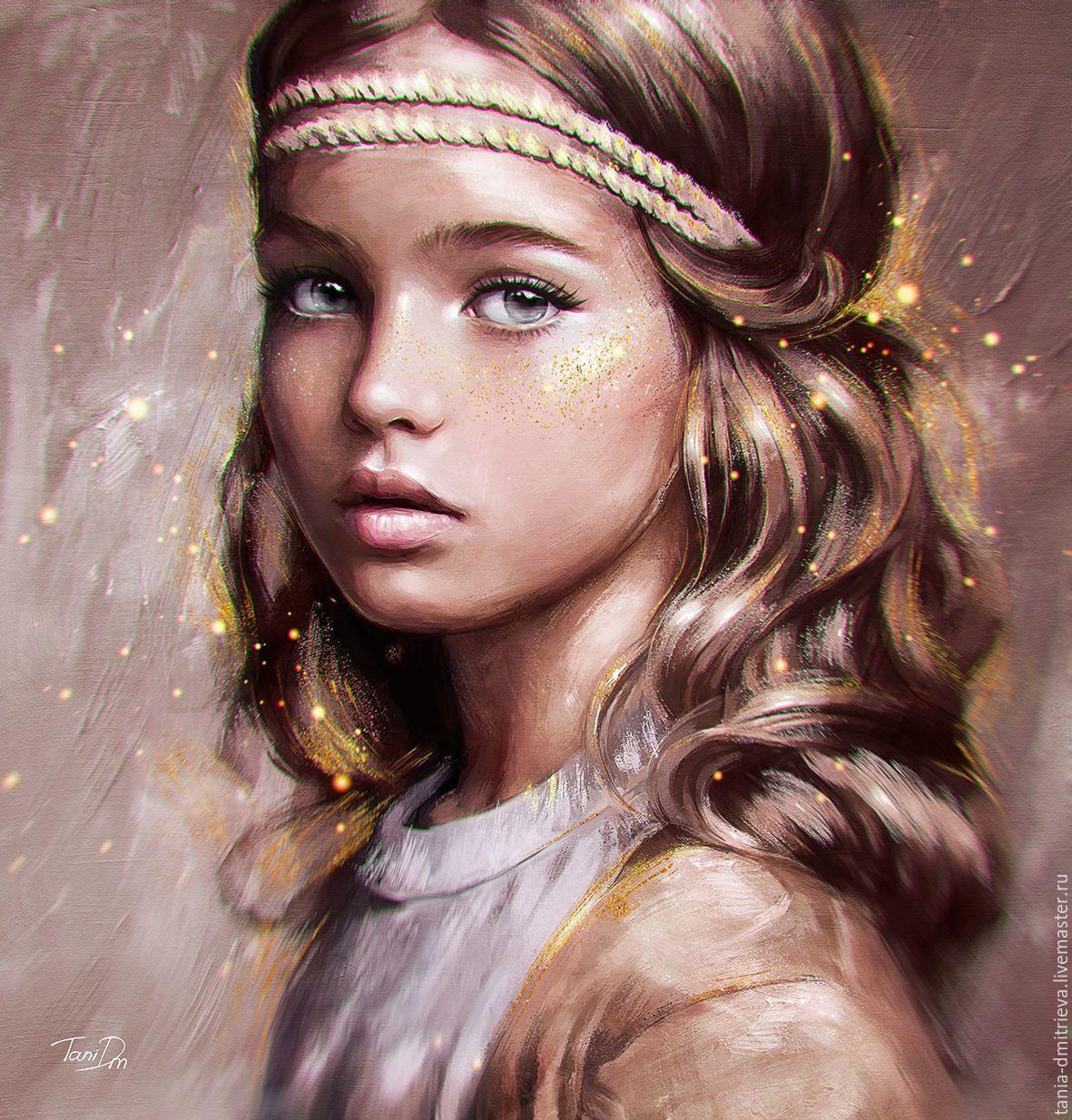 Купить Детский портрет по фото в интернет магазине на ...
