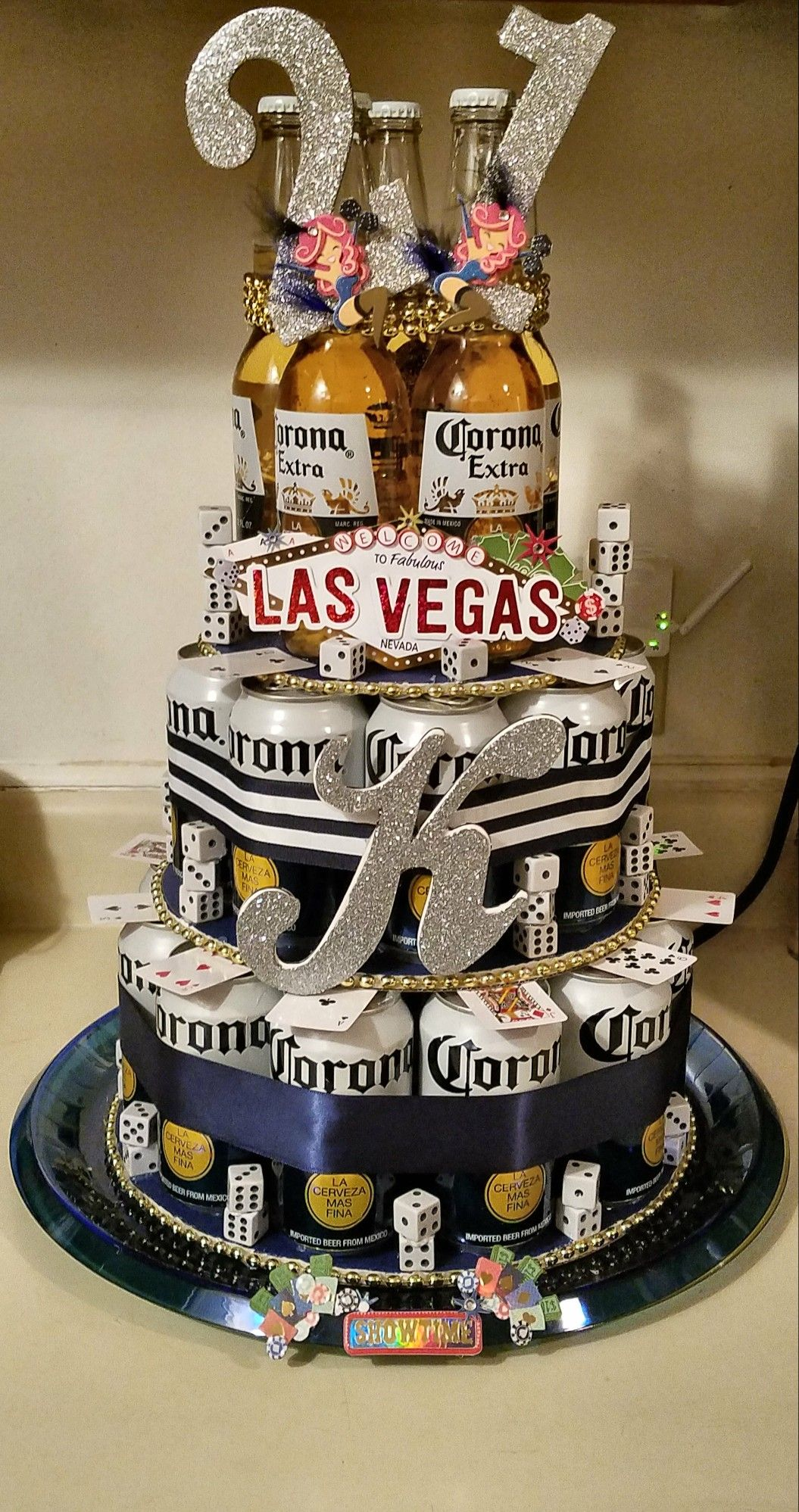 Corona Beer Cake 21st Birthday Vegas Theme With Images Beer