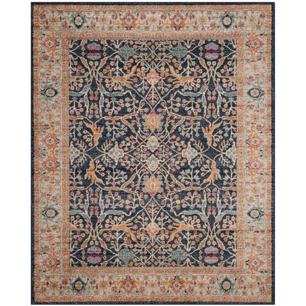Safavieh Madison Navy Cream 9 Ft X 12 Ft Area Rug Area Rugs Rugs Transitional Home Decor