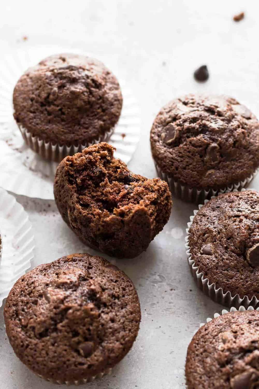 Chocolate Zucchini Muffins Chocolate Zucchini Muffins Double Chocolate Zucchini Muffins Sweet Cakes