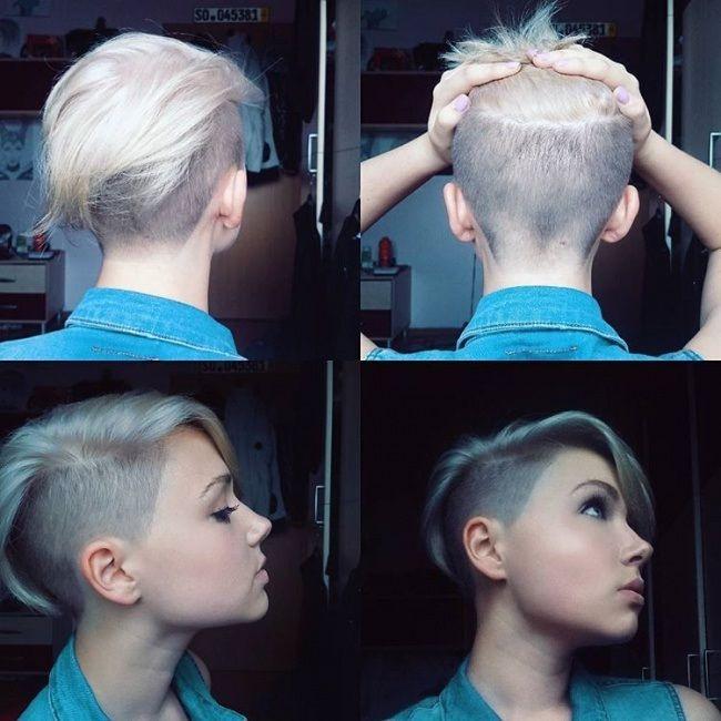 Coupe courte blonde rase