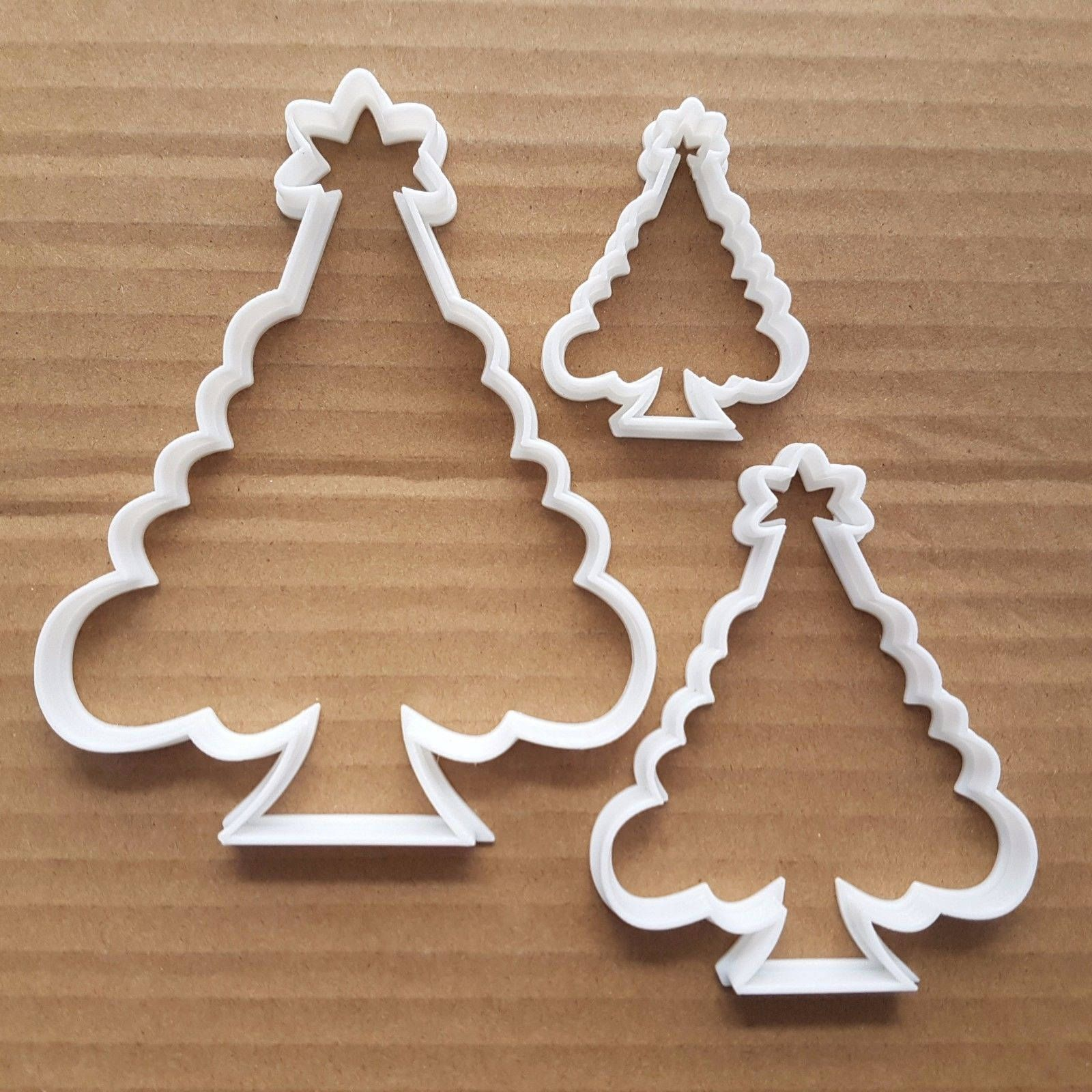Christmas Tree Fern Plant Shape Cookie Cutter Dough Biscuit Pastry Fondant Sharp