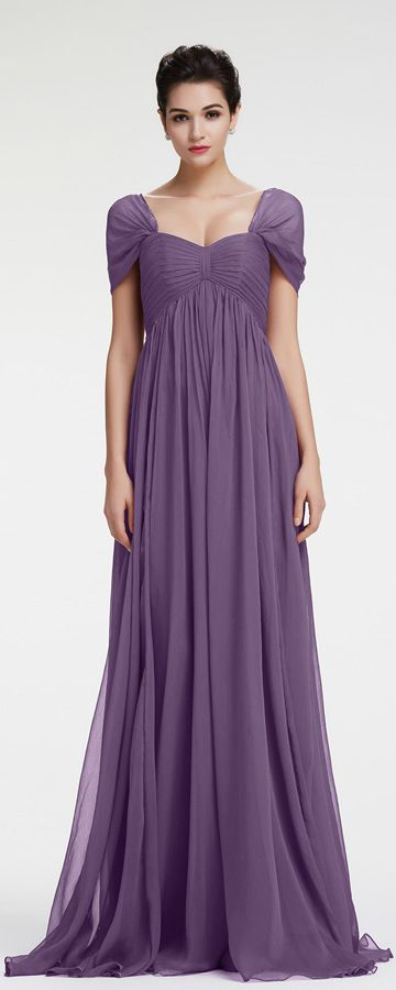 Lavender Evening Dress Maternity Formal Dresses Cap Sleeves ...
