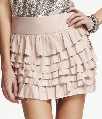 ruffly and mini and perfect with black tights and booties