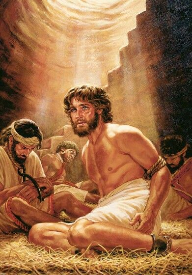 Joseph in prison by family. Evil under your own roof. | Bible illustrations, Bible pictures, Bible images