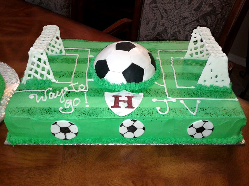 Stupendous Soccer Field Cake Birthday Cake Kids Kids Birthday Kids Funny Birthday Cards Online Aboleapandamsfinfo