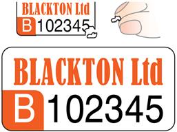 Assetmark Destructible Serial Number Label Logo Full Design 12mm X 25mm Asset Labels Number Labels Custom Design