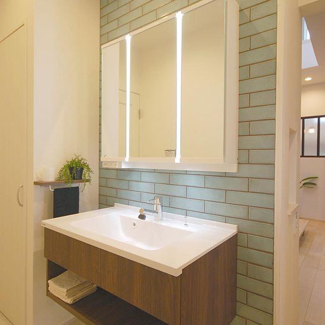 オープン洗面 使いやすい洗面 お客様も家族も使いやすい洗面 平田