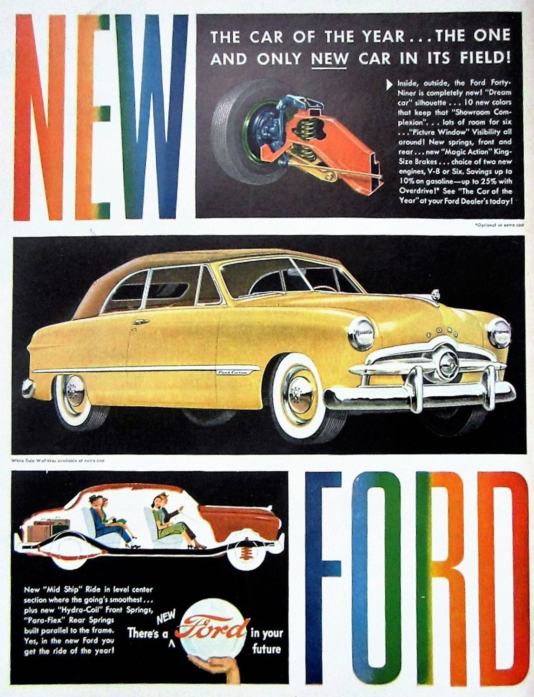 1948 49 Ford Vintage Advertisement Automotive Wall Art Man Cave ...