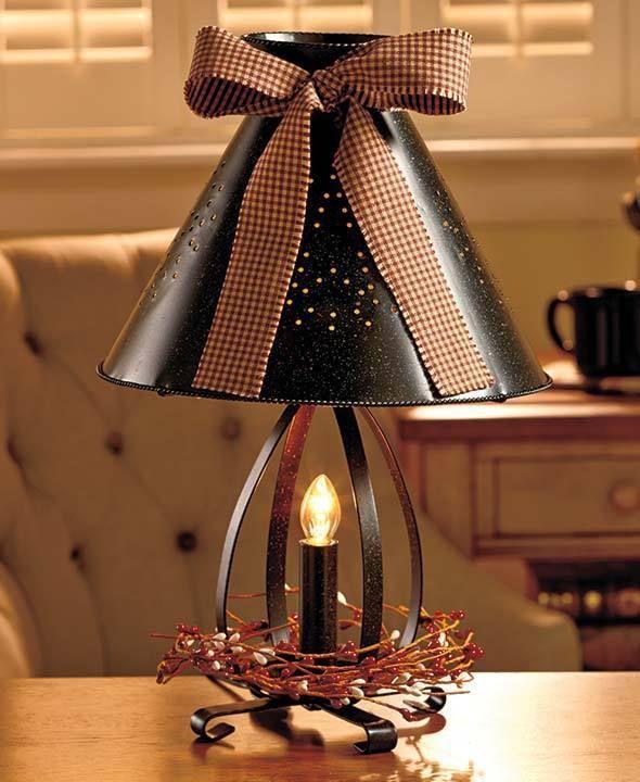 Country Tin Lantern Rustic Lamp Night Light