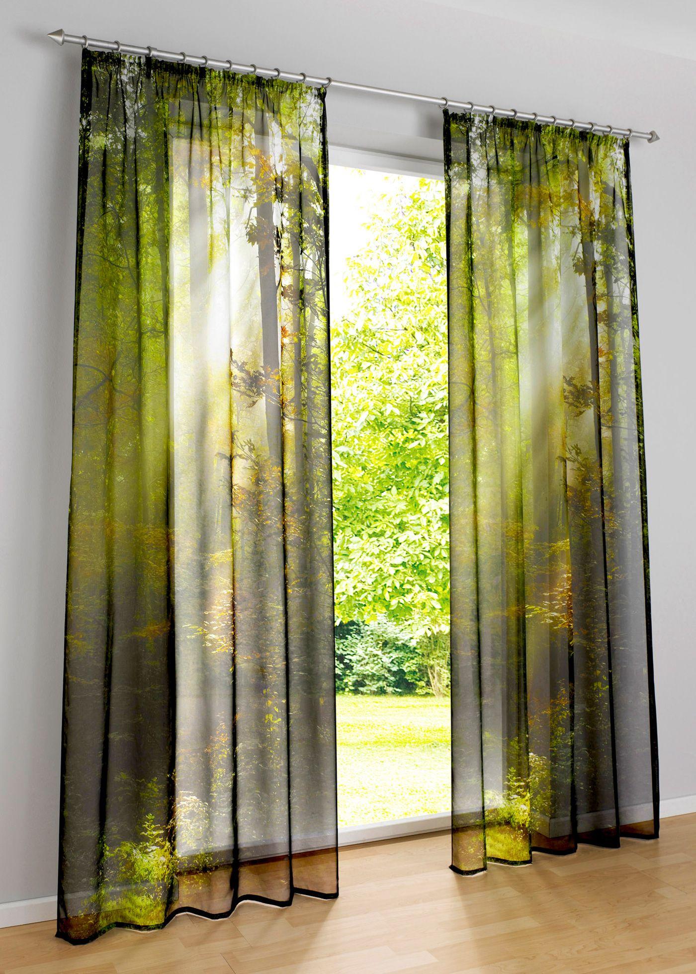 Vorhang Fotodruck jetzt anschauen transparente gardine aus voile mit effektvollem