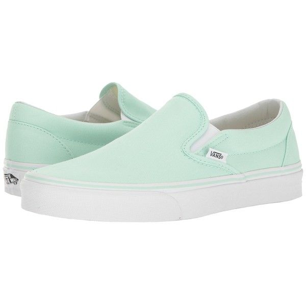 1cc82c7898 Vans Classic Slip-On (Bay True White) Skate Shoes ( 50) ❤ liked on Polyvore  featuring shoes