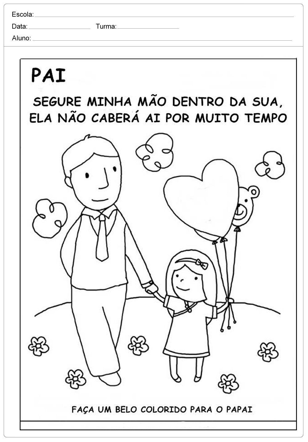 Desenhos Para Colorir E Imprimir Para Dia Dos Pais Dia Dos Pais