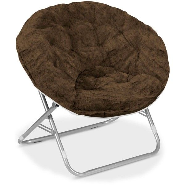 Arron Adult Faux Fur Saucer Chair ($49) ❤ Liked On Polyvore Featuring Home,