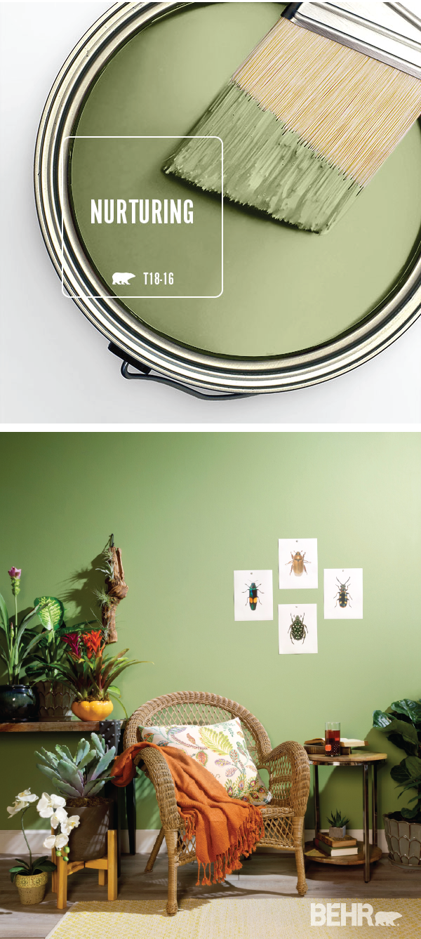 Color of the Month: Nurturing | Colorfully BEHR -   16 sage green living room color scheme ideas