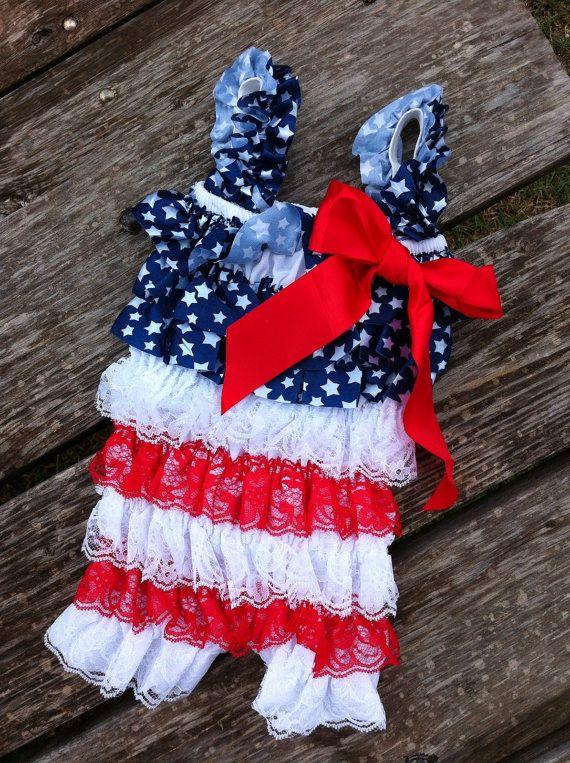 0c85ebc2b433 4th of July Patriotic Petti Romper