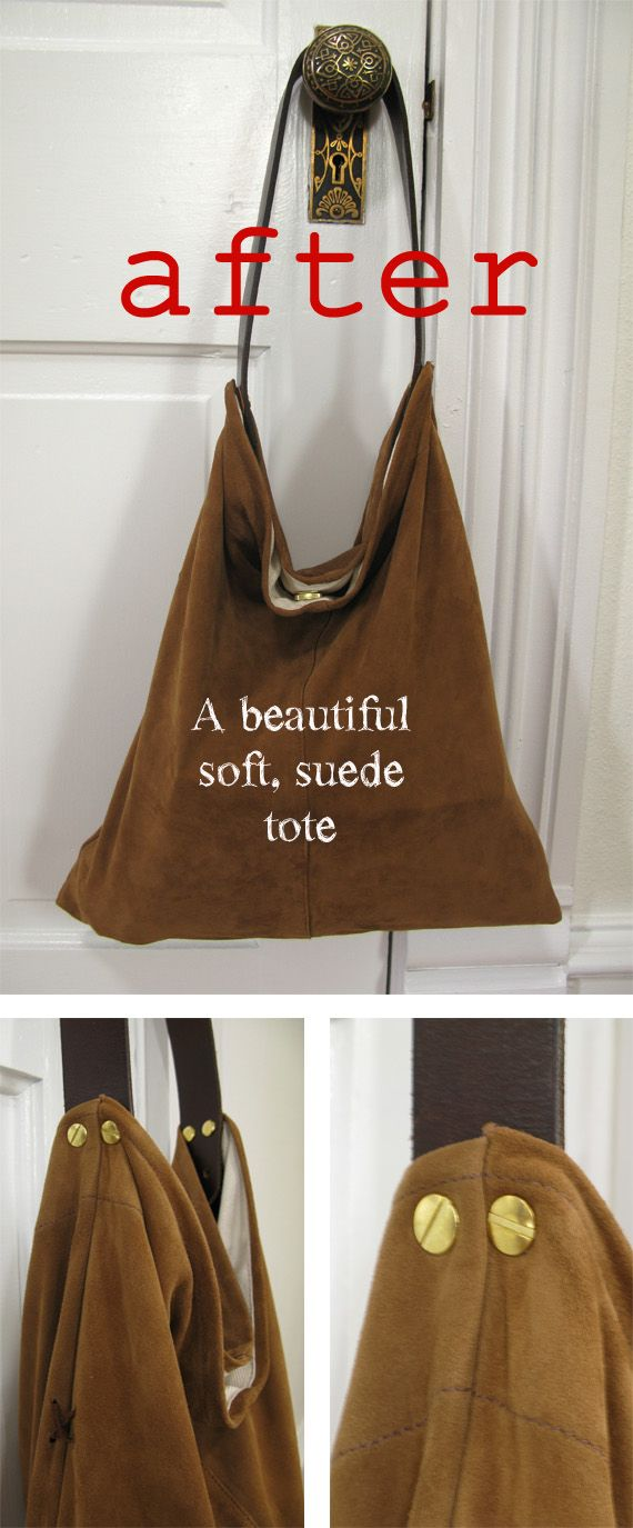 Inspiration piece repurposed from a pair of suede pants.