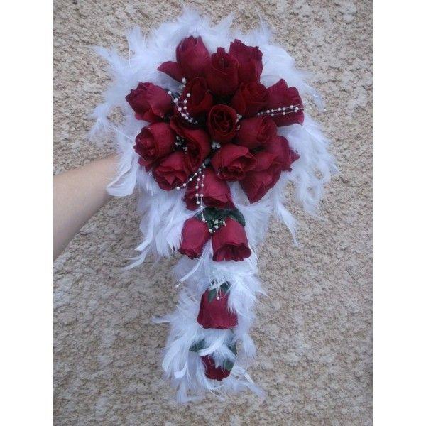 http bouquet de la bouquet avec des roses des feuilles et des plumes et perles. Black Bedroom Furniture Sets. Home Design Ideas
