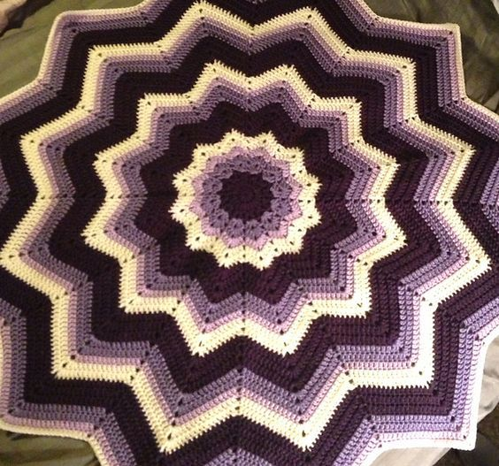 Ravelry Project Gallery For Rainbow Ripple Baby Blanket Pattern By
