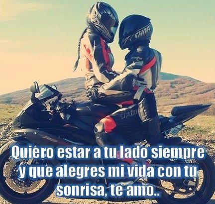 Imágenes De Motos Con Frases De Amor Citações Motorrad