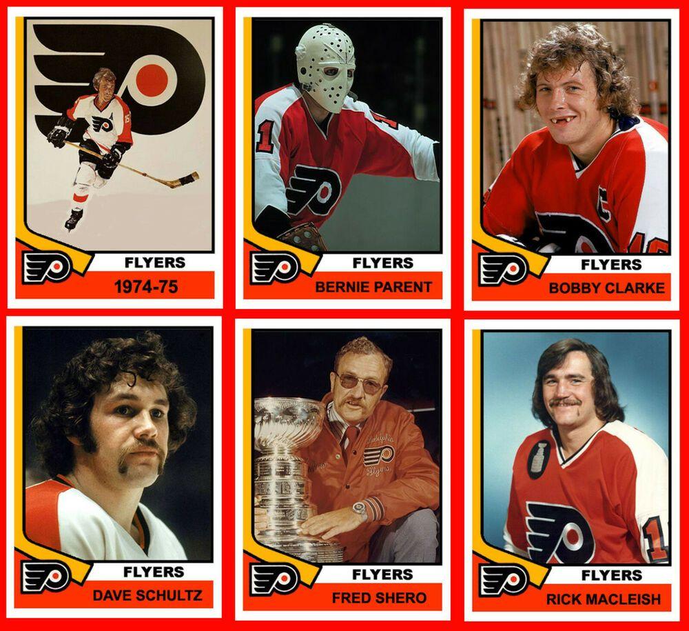 PHILADELPHIA FLYERS 197475 High Grade Hockey Card Style