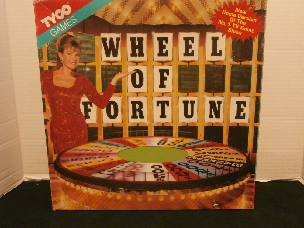 Wheel OF Fortune Board Game1992 Tyco Pat Sajak Vanna White                     #tyco