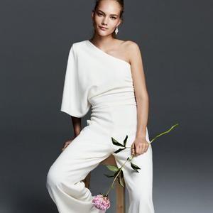 Mariage exit la robe de mari e oui au pantalon max mara les pantalon et la robe de mari e - Combinaison femme chic pour mariage ...